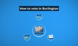 How to vote in Burlington