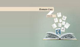 Copy of Roman Law