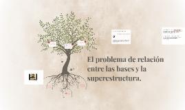 El problema de relación entre las bases y la superestructura