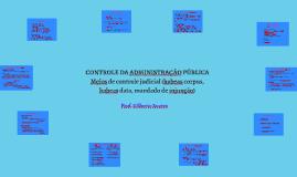 Controle da Administração Pública - meios de controle judicial (habeas corpus, habeas data, mandado de injunção)