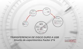 DISEÑO DE EXPERIMENTOS FACTOR 2K