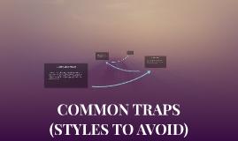 COMMON TRAPS