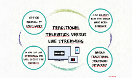 TRADITIONAL TELEVISION VERSUS LIVE STREAMING