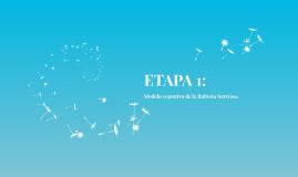 ETAPA 1: Modelo cognitivo de la Bulimia Nerviosa