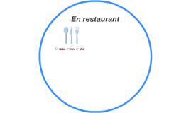 En restaurant