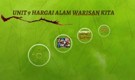 Copy of UNIT 9 HARGAI ALAM WARISAN KITA