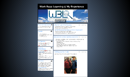 Work Base Learning & My Experience