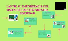 LAS TIC SU IMPORTANCIA Y EL USO ADECUADO EN NUESTRA SOCIEDAD