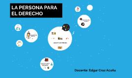 DERECHO CIVIL: PERSONAS