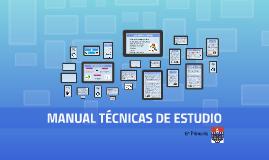 Manual técnicas estudio (6º Primaria)