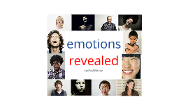 emotions revealed by paul ekman
