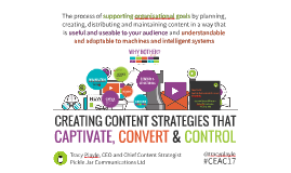 CEAC17 CREATING CONTENT STRATEGIES THAT