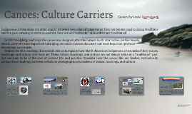 Canoes: Culture Carriers