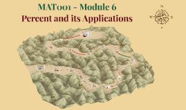 MAT001 - Module 6 - Percents and its Applications