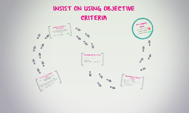 INSISTS ON USING OBJECTIVE CRITERIA