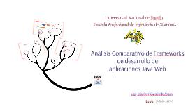 Análisis Comparativo de Framework de desarrollo de aplicacio