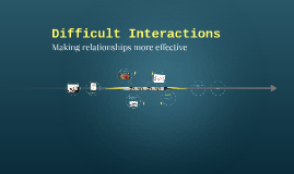 Copy of Difficult Interactions