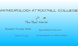 Anthropology at Foothill College