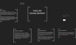 Pasture Establishment