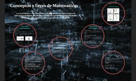 Conceptos y Leyes de Matematicas