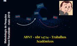 ABNT - nbr 14724 - Trabalhos Acadêmicos