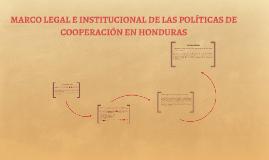 MARCO LEGAL E INSTITUCIONAL DE LAS POLÍTICAS DE COOPERACIÓN