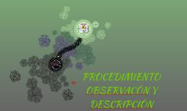 PROCEDIMIENTO DE OBSERVACÒN Y DESCRIPCIÒN