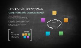 Errores de Percepción