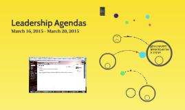 Leadership Agendas
