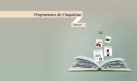 Programmes de Cinquième
