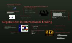 Negotiations in International Trading