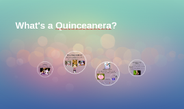 What's a Quinceanera?