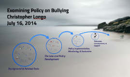 Examining Policy on Bullying