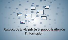 Respect de la vie privée et peopolisation de l'information
