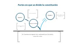 partes en que se divide la constitucion y las garantias individuales