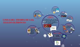 LÍNEA DEL TIEMPO DE LOS JUEGOS OLIMPICOS