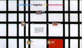 Modernism Inquiry: Art movements
