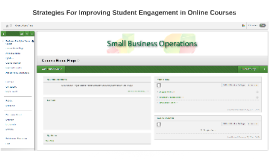 Strategies For Improving Student Engagement in Online Course