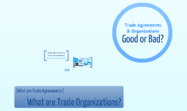 Copy of Trade Agreement and Trade Organizations Assignment