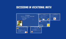 Succeeding in Vocational Math