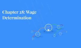 Chapter 28: Wage Determination