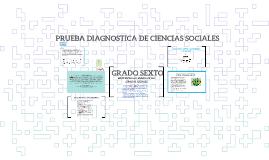 PRUEBA DIAGNOSTICA DE CIENCIAS SOCIALES GRADO SEXTO