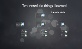 Ten Incredible thing I learned