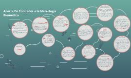 Aporte de las Entidades a la Metrología biomédica