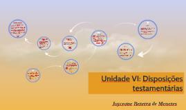 Unidade VI: Disposições testamentárias