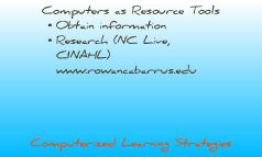 Introduction to Computerized Learning Strategies