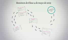 Resumen de Clase 4 de mayo de 2015