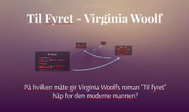 Virginia Woolf -Til Fyret