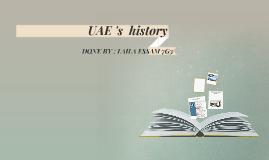 UAE 's  history