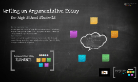 Copy of Copy of Argumentative Essay